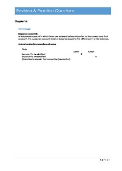 F3 Correction of errors section Student Questions Exam prep