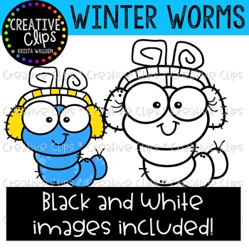 Winter Worms: Winter Clipart {Creative Clips Clipart}
