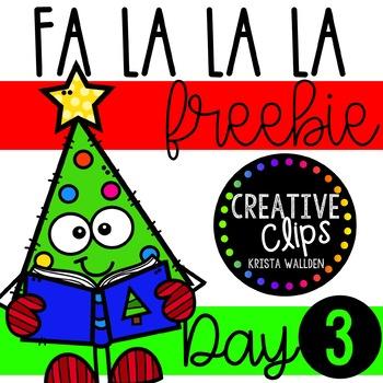 FA LA LA LA Freebie #3 {Creative Clips Clipart}