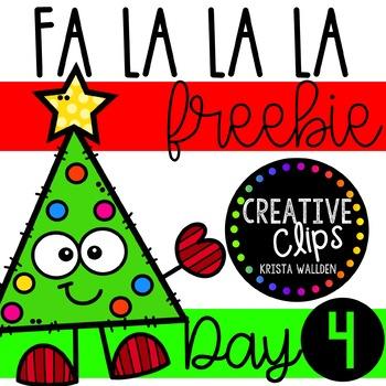 FA LA LA LA Freebie #4 {Creative Clips Clipart}