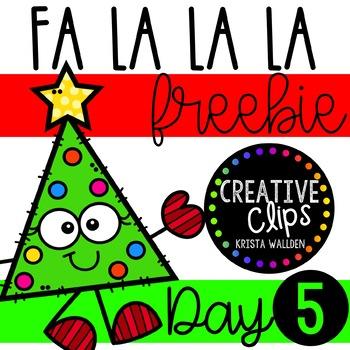 FA LA LA LA Freebie #5 {Creative Clips Clipart}