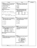 Third Grade Math Test Prep FAB 5 Week 5
