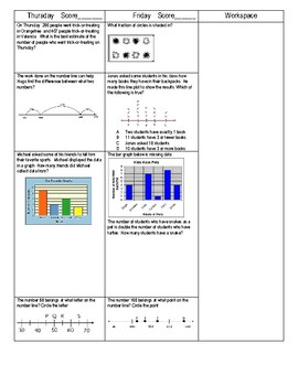 Third Grade Math Spiral Review Week 7
