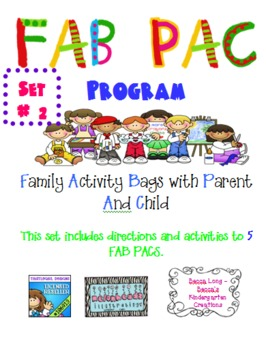 FAB PAC -Family Activity Bags with Parent And Child - Set  # 2