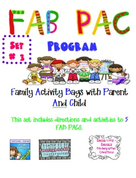 FAB PAC -Family Activity Bags with Parent And Child - Set # 3
