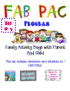 FAB PAC -Family Activity Bags with Parent And Child - Set # 4