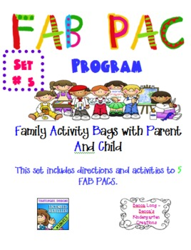 FAB PAC -Family Activity Bags with Parent And Child - Set # 5