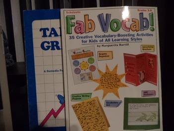 FAB VOCAB!  TABLES & GRAPHS       (set of 2)