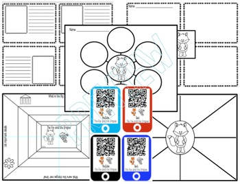 FABLE The Fox and the Grapes Mini Book-QR Codes-Common Core-Kaplan Icons