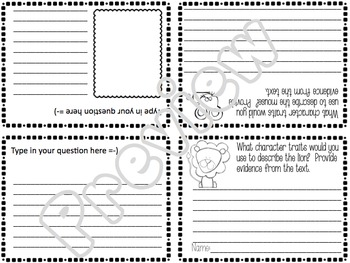 FABLE The Lion and the Mouse Foldable Mini Book Common Core Aligned Kaplan Icons
