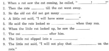 Fables: Belling the Cat; Little Rat's Trick READ COMPREHENSION STRATEGY 2 for $1