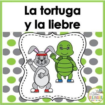 Fabula La Liebre Y La Tortuga The Tortoise And The Hare In Spanish