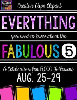 FABULOUS 5 FREEBIE INFORMATION {Creative Clips Digital Clipart}