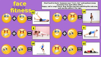 FACE FITNESS Powerpoint instant activity warm up - SEL (social-emotional)