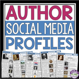 AUTHOR BIOGRAPHY PROFILE POSTERS (SOCIAL MEDIA)