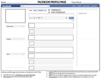FACEBOOK PROFILE PAGE Template Federalist Anti By COACHING HISTORY