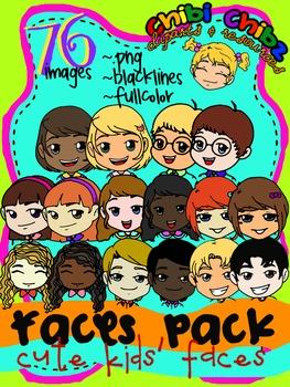 FACES CLIPART PACK {Cute Kids' Faces}