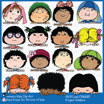 FACES and FINGERS Project Holders Clip Art (Karen's Kids)