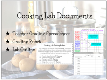 FACS Cooking Lab Grading Spreadsheet
