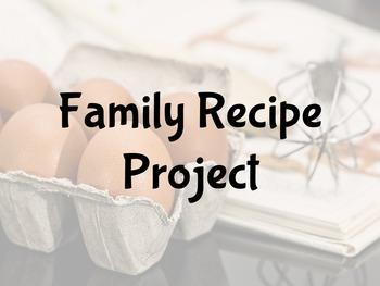 FACS Family Recipe Project
