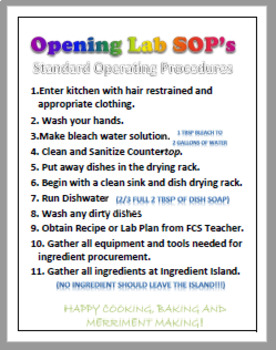 FACS Kitchen Lab Management Resources
