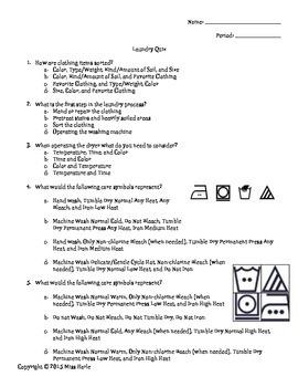 FACS Laundry Quiz