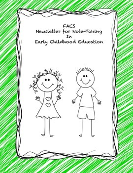 FACS Newsletter for Early Childhood Education Note-taking