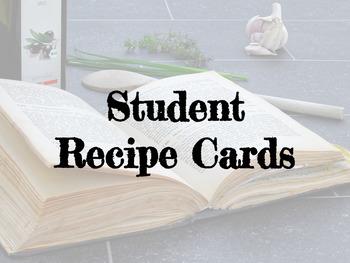 FACS Student Recipe Cards