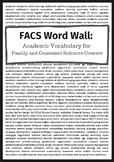 FACS Word Wall: Academic Vocabulary for Family and Consumer Sciences Courses