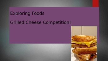 FACS grilled cheese competition powerpoint with QR codes!
