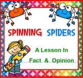 FACT AND OPINION with Spinning Spiders SMARTBOARD
