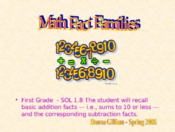 FACT FAMILIES - For First Grade