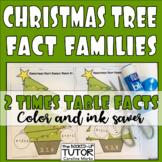 {Christmas FACT FAMILIES} {FACT FAMILY TRIANGLES} {FACT FAMILY CHRISTMAS TREE}