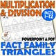 FACT FAMILIES Multiplication and Division 2-12 Drilling Worksheets