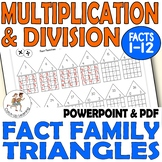 FACT FAMILIES 2-12 Drilling Worksheets Multiplication Division Times Tables