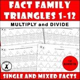 FACT FAMILIES 2-12 Drilling Worksheets Multiplication Divi