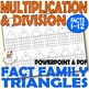 FACT FAMILIES multiplication and divide 2-12 worksheets