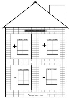 FACT FAMILY HOUSE - Addition and Subtraction - Tens/Ones - FREEBIE