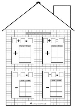 FACT FAMILY HOUSE - Vertical and Horizontal format - Addition and Subtraction