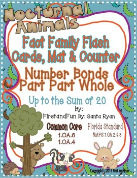 FACT FAMILY NUMBER BONDS FLASH CARDS MAT AND COUNTERS SET