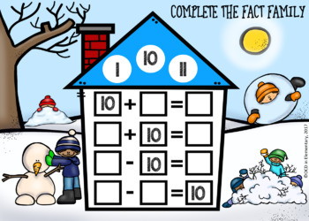 FACT FAMILY PRACTICE BOOM CARDS [WINTER THEMED]