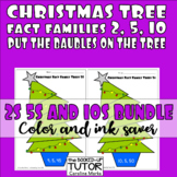 {FACT FAMILY WORKSHEETS} {Christmas fact families} {MULTIPLICATION CRAFTIVITY}