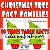 {CHRISTMAS TREE multiplication} {fact families TRIANGLES}