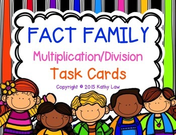 FACT FAMILY Task Cards: Multiplication/Division