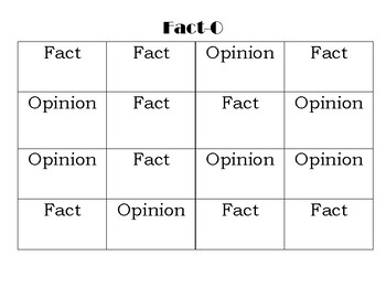 FACT-O Fact and Opinion Game
