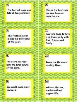 FACT & OPINION TASK CARDS and WORKSHEETS