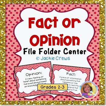 FACT OR OPINION FILE FOLDER CENTER