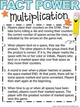 FACT POWER Game Multiply and Divide