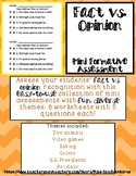 FACT VS OPINION Worksheets - 6 Themed Mini-Assessments