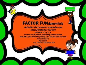 FACTOR FUNdamentals:  Recognize Factors Fluently:  Good for Common Core/TEKS